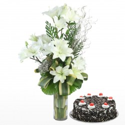 White Lillies & Cake