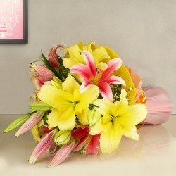 Pink n Yellow Lillies