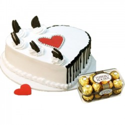 Heart Shape Vanilla Cake...