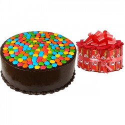 KitKat Bouquet With Gems Cake
